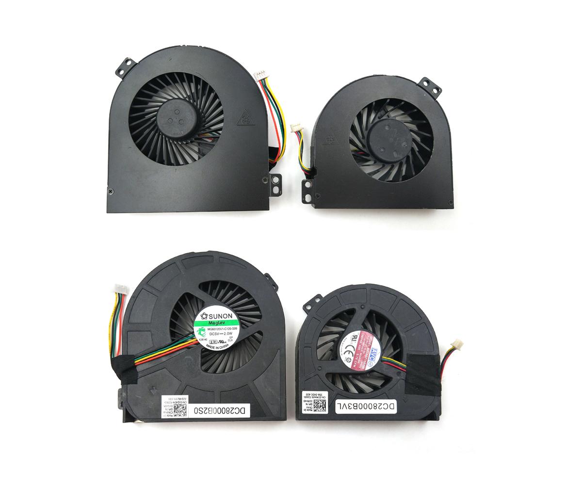 Genuine CPU & GPU Fan for Dell Precision M4800 Laptop
